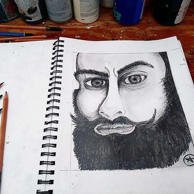 Respect the beard by eileen a www.ea-art.com